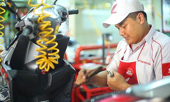 Tuyển dụng Thợ sửa xe máy