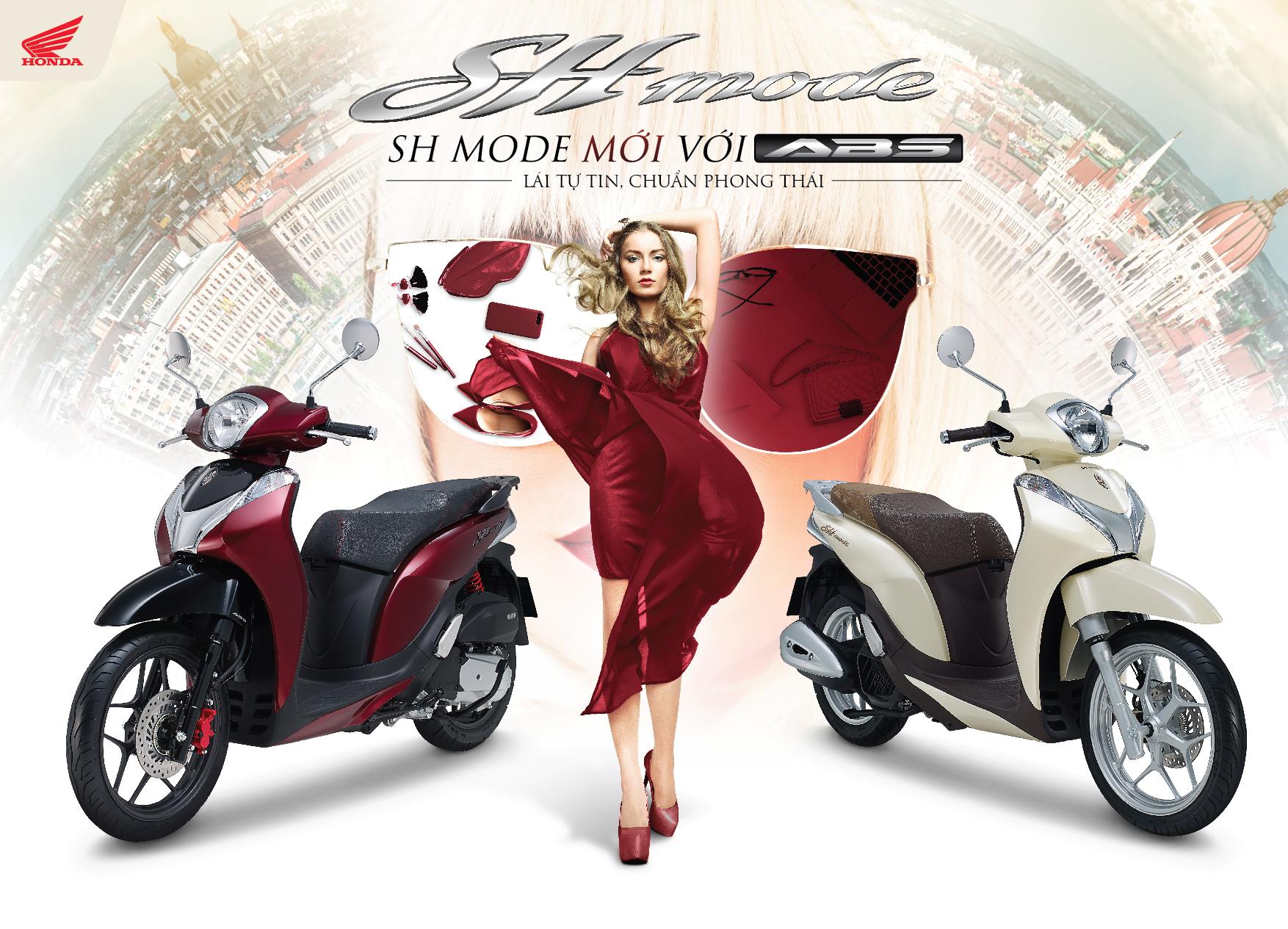 Honda Việt Nam giới thiệu SH Mode 125cc mới với ABS